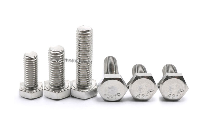 M8 HEXAGON HEAD FULLY THREADED SET SCREWS BOLTS A2-70 STAINLESS STEEL 12MM-150MM