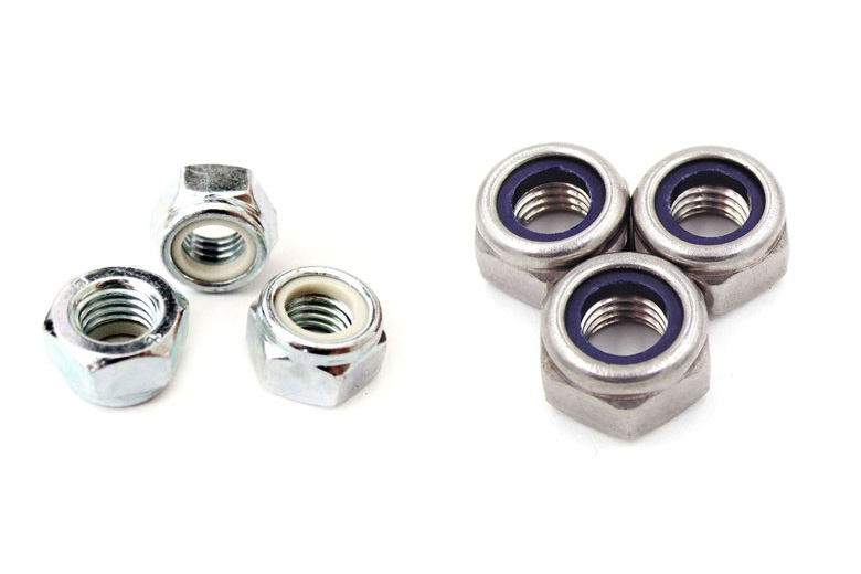 NUTS FLANGE M5 A2 STAINLESS STEEL FLANGED /& SERRATED NYLON INSERT NYLOC NUT